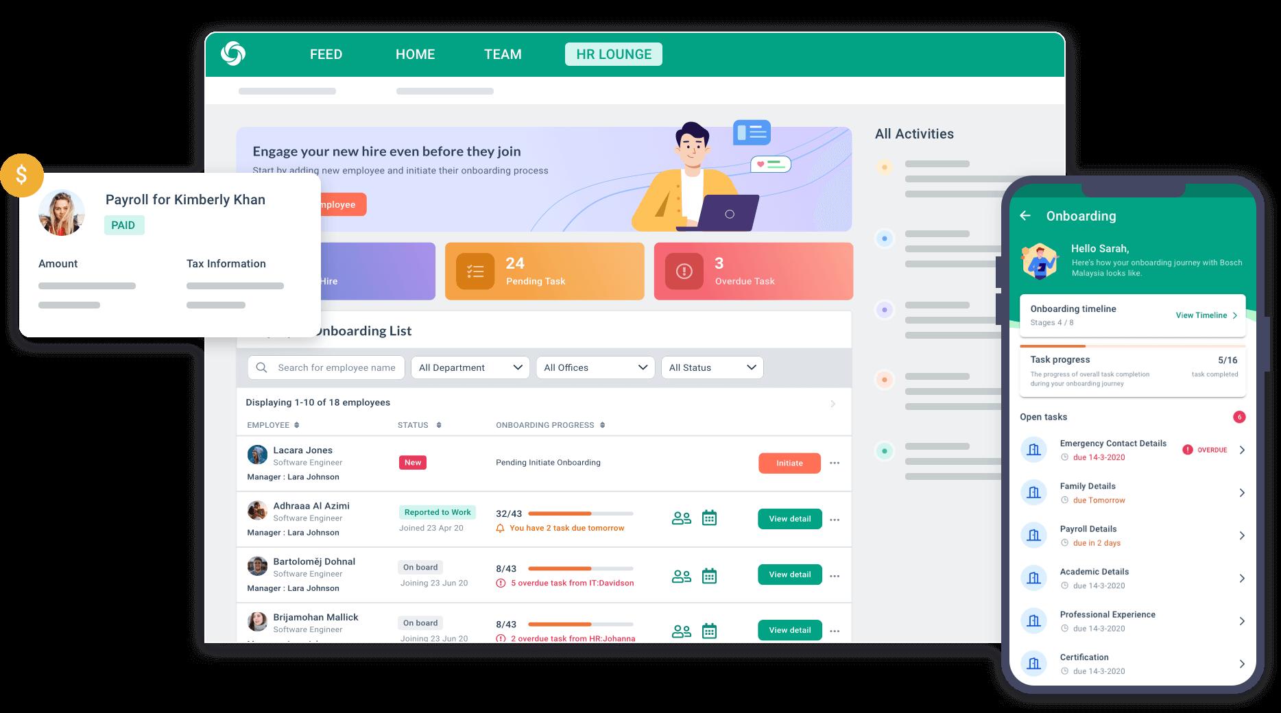 BrioHR interface